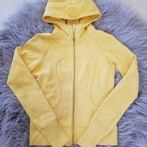 **final $ drop**Yellow Lululemon scuba 2 hoodie